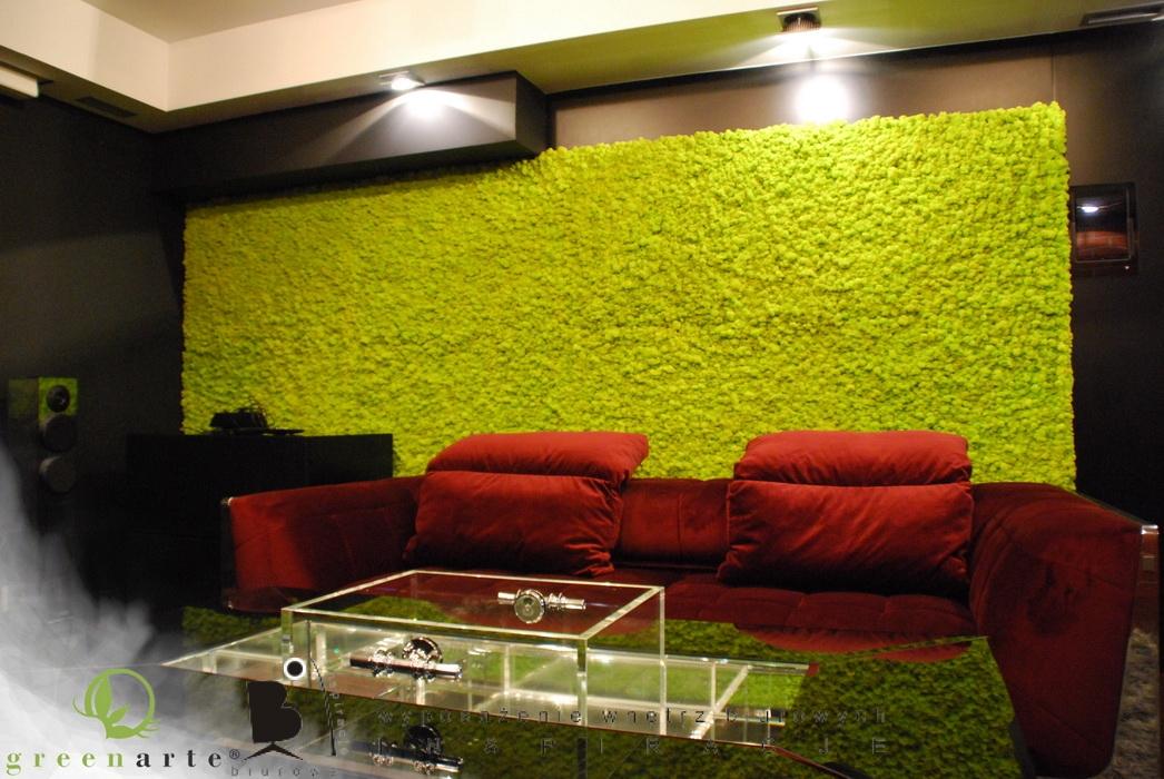 rośliny w biurze w nowej formie ods�ona druga panele z mchu